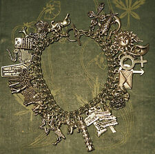 Lenomand Card Charm Bracelet - Divination, Pagan, Wicca, Deck, tarot, 36 charms