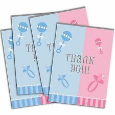 8 Boy Or Girl Baby Shower Gender Reveal Party Thanks Thank You Notes Cards