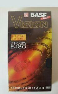 BASF by EMTEC VISION E-180 3 HR Blank VHS Chrome Video Cassette (Still Sealed)