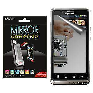 AMZER Mirror Screen Protector w/ Cleaning Cloth for Motorola DROID BIONIC XT875
