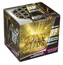 Feu d'Artifice Compact GOLD STARS Batterie 19 Comète Bouquets Dentelés Crépitant