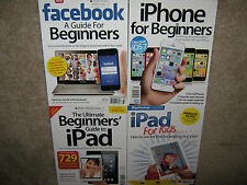 LOT 4 iPad Ultimate Beginners Guide + For Kids + Facebook + iPhone $78 NEW cPics