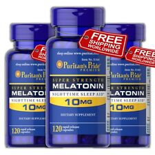 Puritans Pride Melatonin 10mg Night Time Sleep Aid 360 Caps FREE WORLDWIDE SHIP
