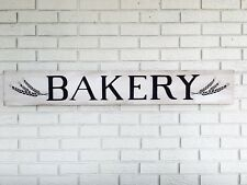 """Large Rustic Wood Sign - """"Bakery"""" - 4 Feet Long! - Fixer Upper, Kitchen"""