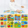 Wooden Baby Toddler Intelligence Development Animal Brick Puzzle Toy Classic AM8