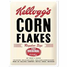 Vintage Style Retro Embossed Metal Plaque/Tin Sign - Kellogg's Corn Flakes