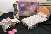 Rare Barbie Glamour Bed Living Pretty Set Boxed Vintage 1987 Mattel Mirror