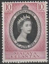 Malaya Kelantan postfris 1953 MNH 70 - Coronation Elisabeth II (033)
