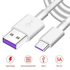 USB-C 5A Super Fast Charging Cable USB 3.1 Type C Fast Charger Sync Data Wire UK