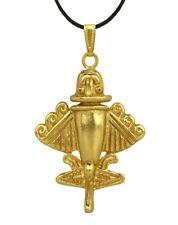ACROSS THE PUDDLE 24k GP Quimbaya Ancient Flyer / Golden Jet-9 Pendant Necklace