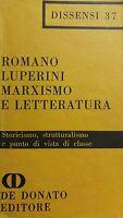 MARXISMO E LETTERATURA ROMANO LUPERINI