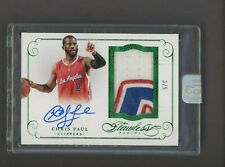 2014-15 Panini Flawless Emerald Chris Paul 3-Color Patch AUTO 3/5 Clippers