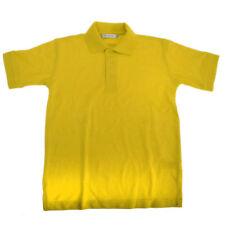 Magliette e maglie camicia polo gialli a manica corta per bambini dai 2 ai 16 anni