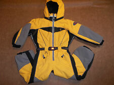 OBERMEYER SKI SNOW SUIT I GROW INSULATED HOOD JACKET PANTS OBX YELLOW BOY'S 5