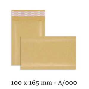 200 A/000 A000 Small GOLD Padded Bubble Lined Postal Envelopes Mail 100 x 165mm