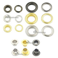 14mm Alloy Grommet Eyelets Canvas Self Backing Screw Handbag Clothes Leather GEE