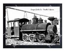 Historic Swayne Lumber Co. - Oroville, California Train Postcard