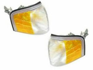 Set of 2 Mercedes Turn Signal Light Front Left and Right Lens Corner Blinker