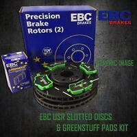 EBC 232mm FRONT USR SLOTTED BRAKE DISCS + GREENSTUFF PADS KIT SET PD06KF118