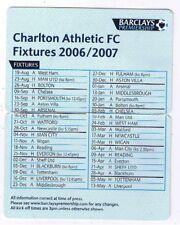 Fixture List - Charlton Athletic 2006/7