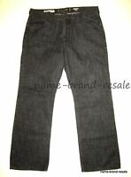 EXPRESS ROCCO Slim Fit Straight Leg Jeans MENS 34 x 29 Black Denim Low Rise