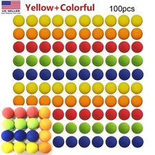 100Pack Toy Gun Bullet Balls for Rival Apollo Zeus Refill Toys Ball 0.86in USA