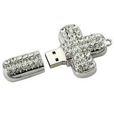 32GB USB 2.0 Pen Drive Flash Drive Memory Stick Key USB / Bling Silver Cross Pen