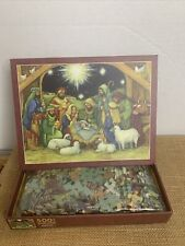Nativity 500 Piece Jigsaw Puzzle Piece complete (2015 Perfect timing)free Ship