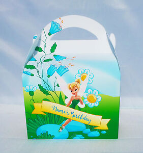 Tinkerbell Peter Pan Children's Personalised Party Boxes Favour 1ST CLASS POST