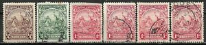 1925 BARBADOS SET OF 6 USED STAMPS (Scott # 165-167,167a)