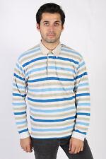 Vintage Lacoste Polo Neck Sweater 90s Mens Colourful Tops Striped L Multi IL1186