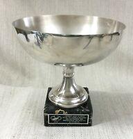 1995 Vintage Golf Trophy Centerpiece Bol Banque de Chypre Masters Souvenirs