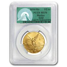 2016 Mexico 1/2 oz Gold Libertad MS-70 PCGS (Green Label)