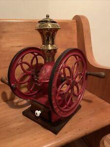 Antique Coffee Grinder Simplex  No. 4 Works! See Description