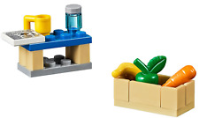 LEGO City Picnic table and basket, with Apple, Banana, Carrot, Newspaper and Can