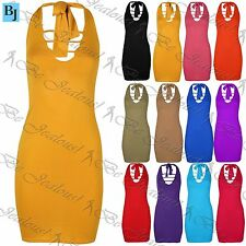 Viscose Sleeveless Women's Halter Neck Dresses