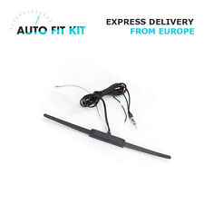 Universal Power Window Glass Mount AM FM Radio Antenna - Amplified New