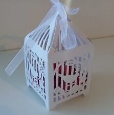 10x BIRDCAGE BABY SHOWER CHRISTENING WEDDING FAVOUR BONBONNIERE BOXES