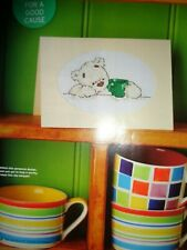 Lickle Ted & green cup design for Macmillan Coffee morning cross stitch chart