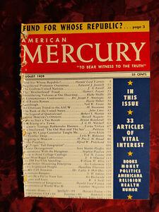 AMERICAN MERCURY August 1959 Harold Lord Varney Art Buchwald Al Capp