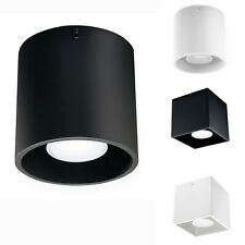 Kanlux ALGO LED Round Cube Ceiling Mounted Spotlight GU10 Light White Black