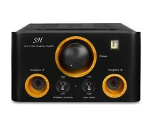 Unison Research Sh, Class A Valve Headphone Amplifier with Dsd Usb Dac in Black