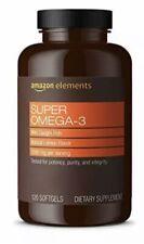 Amazon Elements Super Omega-3 with Natural Lemon Flavor - EPA & DHA Omega-3 -N