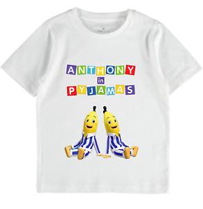 personalised Bananas in Pyjamas tops Babies Girls Boys Toddlers Kids Clothes tee