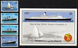 TRISTAN da CUNHA 1979 ☀ Boats,Ships / Visit of RMS QEII. ☀ MNH Souvenir Sheet
