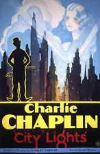 City Lights Movie Promo Poster C Charlie Chaplin Virginia Cherrill Florence Lee
