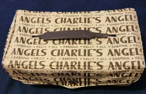 """Charlie's Angels 1977 Doll Luggage Wardrobe Carrying Case Tote  8""""X4.25""""X3.25"""""""