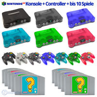 Nintendo 64 Konsole + Controller + Spiele / verschiedene N64 Farben wählbar