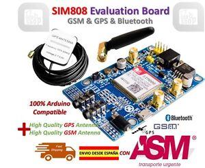 SIM808 Module GSM GPRS GPS Development Board IPX SMA with Antenna