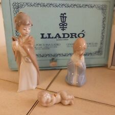 LLADRO # 5657 HOLY FAMILY 3 PIECE ORNAMENT SET CHRISTMAS MINT CONDITION FASTSHIP